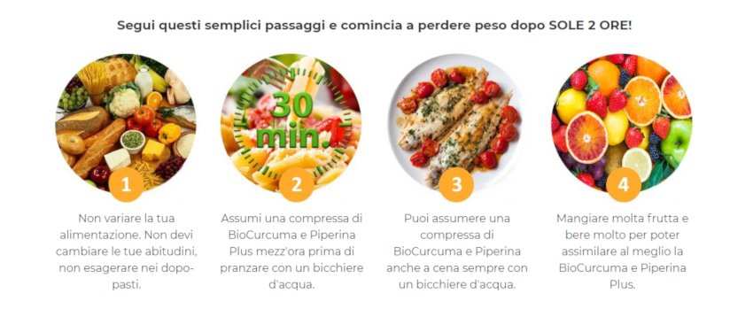 bio curcuma e piperina plus benefici